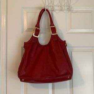 Cole Haan Red Buckle Purse